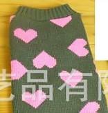 Γκρι πουλόβερ με ροζ καρδούλες DeNik Pets