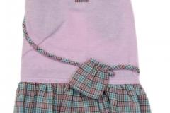 Ροζ Φορεματάκι με καρό βολάν