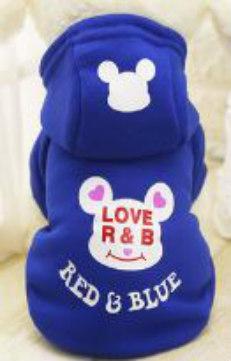 Μπλε Φούτερ με κουκούλα DeNik Pets