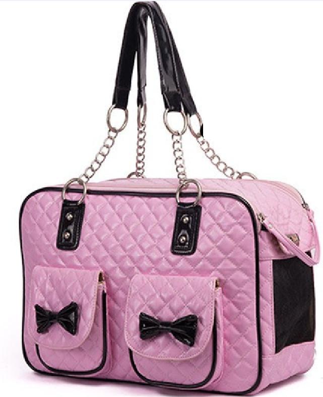 Ροζ τσάντα μεταφοράς DeNik Pets