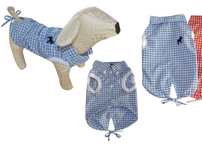 Woofmoda - Γαλάζιο καρό πουκάμισο Picnic